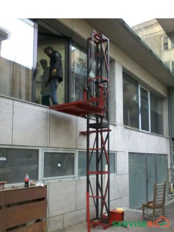 სამშენებლო ამწე ლიფტი-პიონერკას სერვისი
