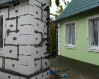 შენობის მოპირკეთება თბო-ჰიდრო საიზოლაციო ფილებით