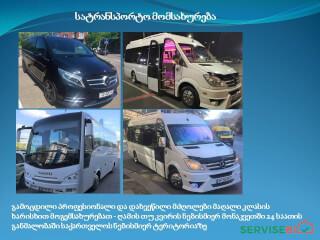 სატრანსპორტო მომსახურეობა - ავტობუსები და მიკრო ავტობუსები