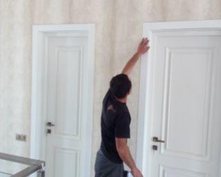 ემ დე ეფ ის შიდა  კარის მონტაჟი,ასევე პლინტუსის მონტაჟი
